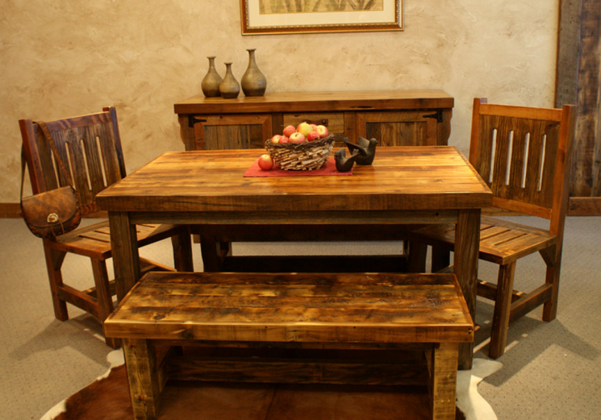 Rustic Western Dining Room Tables - Decor