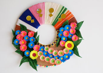 Wall decoration with paper craft for your room