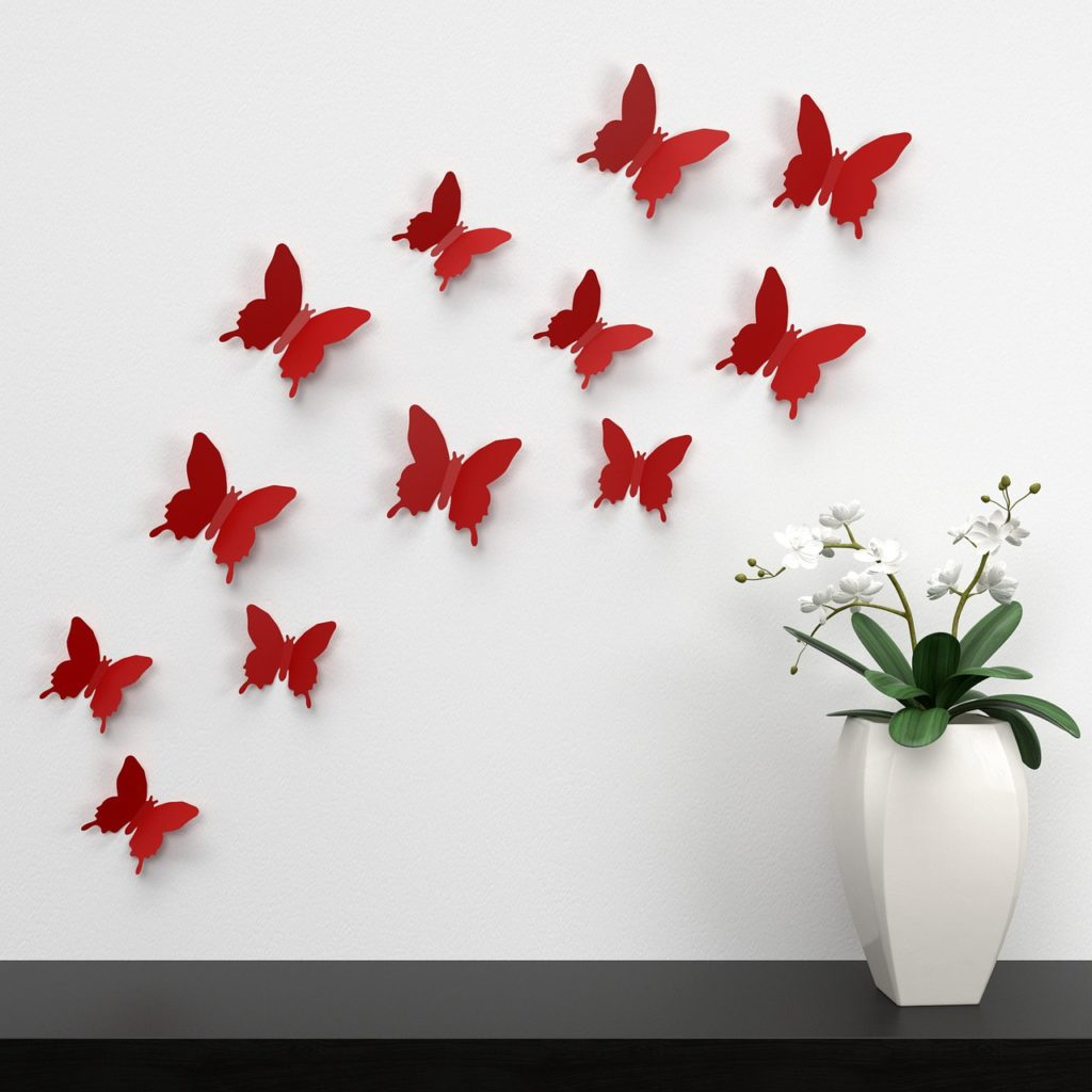 WALL DECORATION WITH PAPER CRAFT
