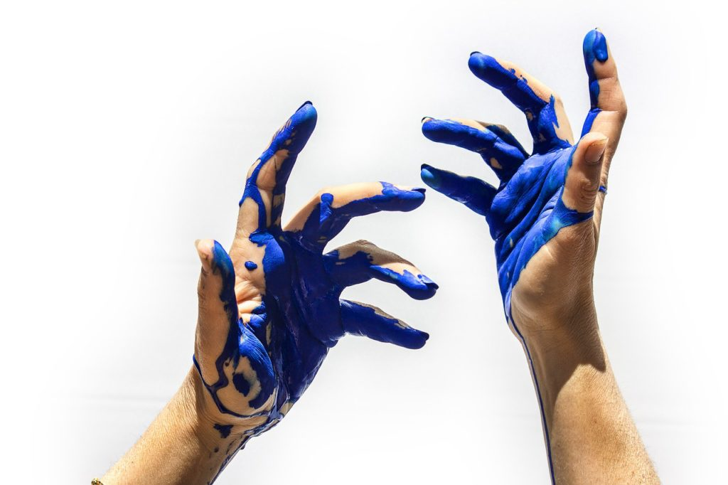 How to get Spray Paint off hands