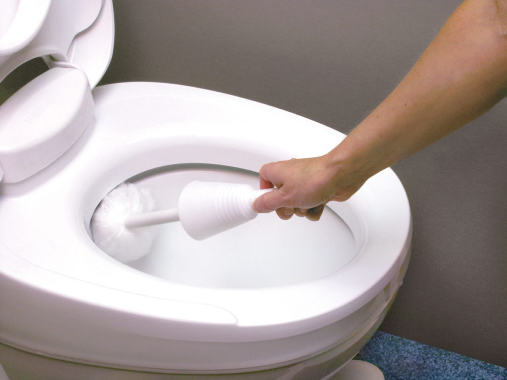 Clean Toilet with Vinegar and Baking Soda