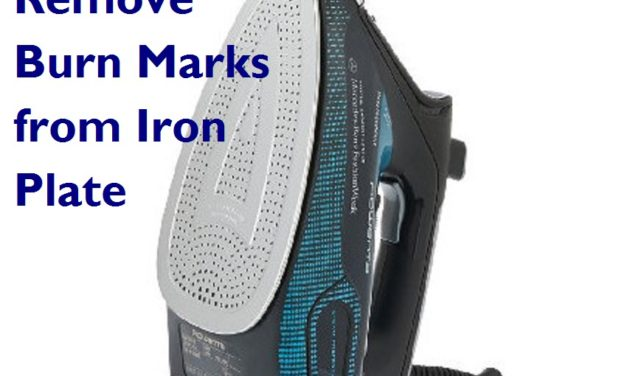 How to Remove Burn Marks from Iron Plate