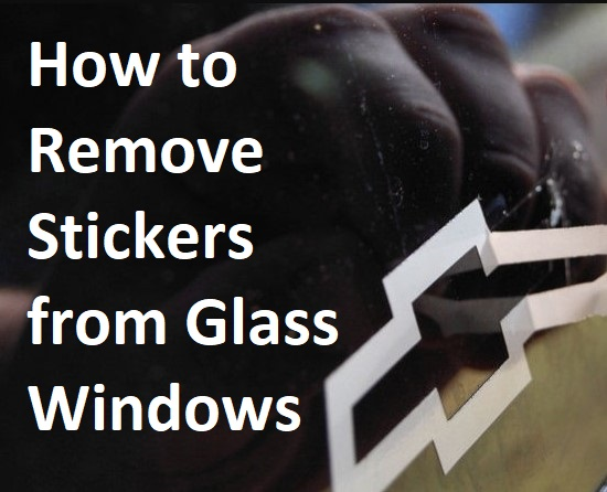 How to Remove Stickers from Glass Windows